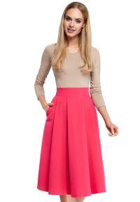 Różowa spódnica rozkloszowana MOE