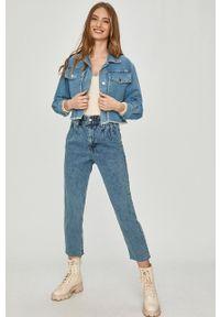 Niebieskie proste jeansy Answear Lab wakacyjne, z podwyższonym stanem