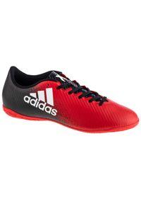 Czerwone halówki Adidas z cholewką, w kolorowe wzory