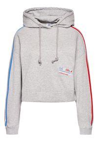 Adidas - adidas Bluza Tricolor Trefoil GN2855 Szary Loose Fit. Kolor: szary