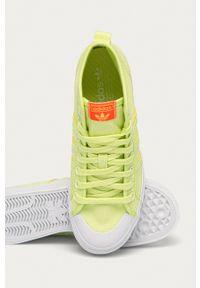 adidas Originals - Trampki Nizza Platform Mid W. Zapięcie: sznurówki. Kolor: żółty. Materiał: guma. Obcas: na platformie