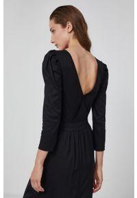 Karl Lagerfeld - Bluzka bawełniana. Kolor: czarny. Materiał: bawełna