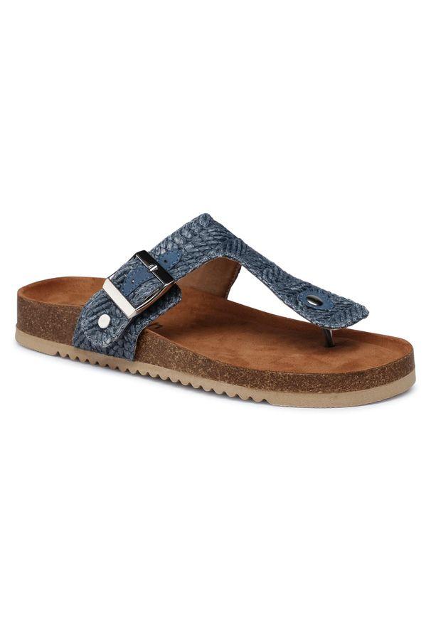 Refresh - Japonki REFRESH - 72937 Jeans. Okazja: na spacer. Kolor: niebieski. Materiał: jeans. Sezon: lato