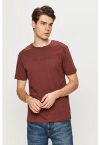 Premium by Jack&Jones - T-shirt. Okazja: na co dzień. Kolor: czerwony. Materiał: dzianina. Wzór: nadruk. Styl: casual
