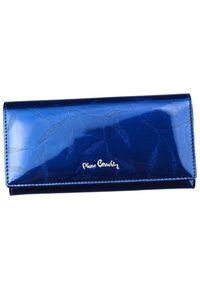 Portfel damski Pierre Cardin 02 LEAF 100 NIEBIESKI. Kolor: niebieski. Materiał: skóra. Wzór: aplikacja