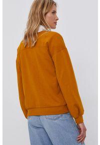 Jacqueline de Yong - Bluza. Okazja: na co dzień. Kolor: żółty. Długość rękawa: długi rękaw. Długość: długie. Wzór: nadruk. Styl: casual
