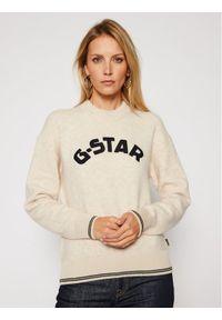 Beżowy sweter klasyczny G-Star RAW