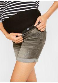 Szorty ciążowe bonprix jasnoszary denim. Kolekcja: moda ciążowa. Kolor: szary. Sezon: lato