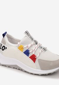 Born2be - Szaro-Białe Sneakersy Danacine. Kolor: szary