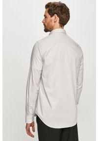 Biała koszula Armani Exchange casualowa, długa, na co dzień, z klasycznym kołnierzykiem