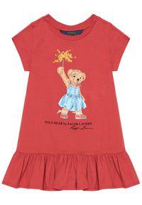 Czerwona sukienka Polo Ralph Lauren prosta, na co dzień, casualowa, polo