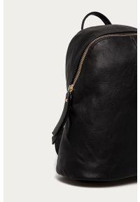 Czarny plecak ANSWEAR gładki, elegancki