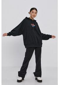 adidas Originals - Bluza. Kolor: czarny. Materiał: poliester. Długość rękawa: długi rękaw. Długość: długie