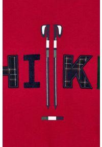 Czerwona koszulka z długim rękawem Mayoral z aplikacjami, casualowa, z okrągłym kołnierzem, na co dzień