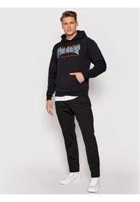 Thrasher Bluza Flame Czarny Regular Fit. Kolor: czarny