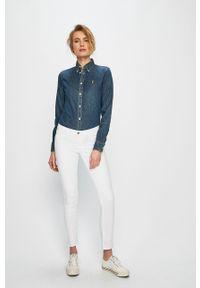 Niebieska koszula Polo Ralph Lauren casualowa, długa