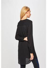 Vila - Sukienka. Okazja: na co dzień. Kolor: czarny. Materiał: tkanina. Typ sukienki: proste. Styl: casual