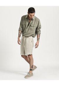 ONETEASPOON - Spodenki Chino Safari Relaxed. Kolor: beżowy. Materiał: tkanina, len. Sezon: lato #6