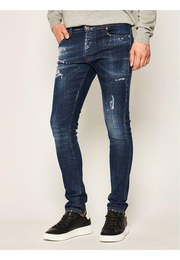 John Richmond Jeansy Skinny Fit Iggy MP20122JE Granatowy Skinny Fit. Kolor: niebieski. Materiał: jeans