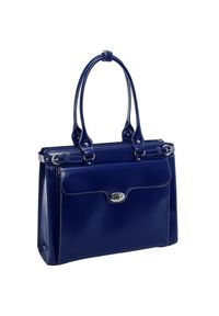 Niebieska torebka MCKLEIN na ramię, na lato