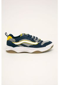 Niebieskie sneakersy Vans z cholewką, na sznurówki