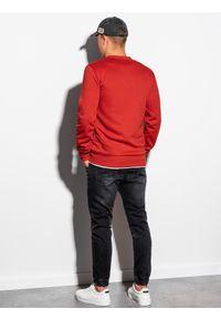 Czerwona bluza Ombre Clothing bez kaptura, na co dzień