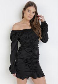 Born2be - Czarna Sukienka Acalegale. Kolor: czarny