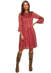 Sukienka MOE z falbankami, w kropki