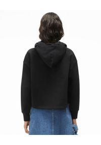 Kenzo - KENZO - Krótka bluza Archive Floral. Kolor: czarny. Materiał: bawełna. Długość rękawa: długi rękaw. Długość: krótkie. Wzór: kwiaty, nadruk