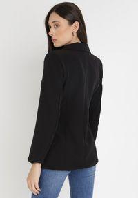 Born2be - Czarna Marynarka Ianthathe. Kolor: czarny. Materiał: jeans, materiał #4