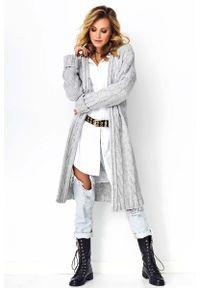 Szary sweter Makadamia długi