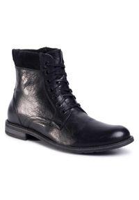 Czarne buty zimowe Gino Rossi z cholewką, na co dzień, casualowe