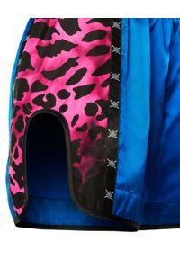REDEMPTION ATHLETIX - Sportowe spodenki ze zwierzęcym wzorem. Okazja: na co dzień. Stan: podwyższony. Kolor: niebieski. Materiał: nylon. Wzór: motyw zwierzęcy. Styl: sportowy