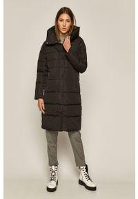 Czarny płaszcz medicine na co dzień, bez kaptura, raglanowy rękaw, casualowy