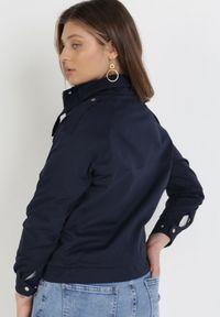 Born2be - Granatowa Kurtka Sabethia. Kolor: niebieski