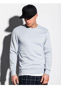 Srebrna bluza Ombre Clothing na co dzień, bez kaptura, casualowa