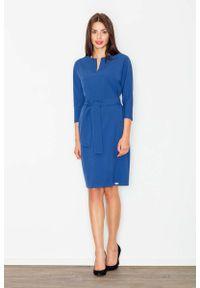 Niebieska sukienka wizytowa Figl wizytowa