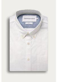 Biała koszula Calvin Klein Jeans button down, na co dzień, długa, casualowa