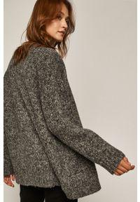 Czarny sweter rozpinany medicine