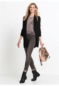 Czarny sweter bonprix długi