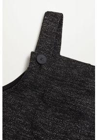 Czarna sukienka Mango Kids z dekoltem karo, na co dzień, na ramiączkach