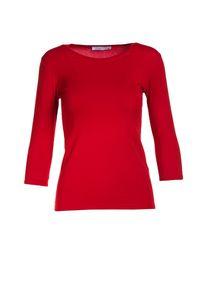 Czerwona bluzka z długim rękawem Born2be