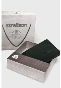 Strellson - Portfel skórzany. Kolor: czarny. Materiał: skóra