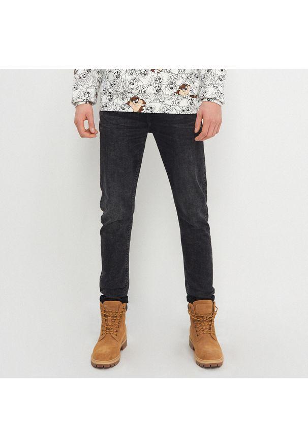 House - Jeansy slim fit z bawełny organicznej - Czarny. Kolor: czarny
