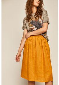 Żółta spódnica medicine casualowa, na co dzień