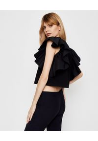 Czarna bluzka Alexander McQueen elegancka