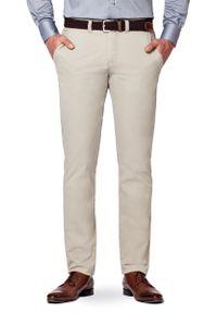 Lancerto - Spodnie Chino Pedro II J.Beż. Okazja: na co dzień. Kolor: beżowy. Materiał: tkanina, elastan, syntetyk, materiał, bawełna. Wzór: moro, kolorowy. Styl: militarny, elegancki, sportowy, klasyczny, casual