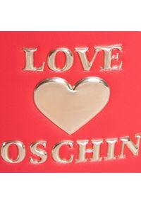 Czerwona torebka worek Love Moschino casualowa