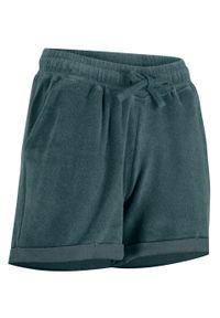 Niebieskie spodnie bonprix sportowe, krótkie