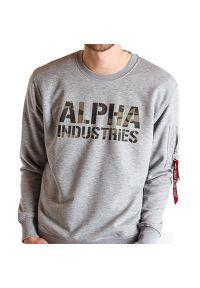 Zielona bluza Alpha Industries z nadrukiem, na co dzień, casualowa